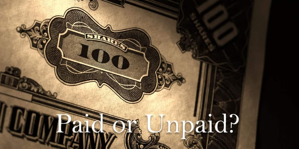 Capital Paid or Unpaid? Which is Which?